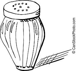 Sketch of salt shaker
