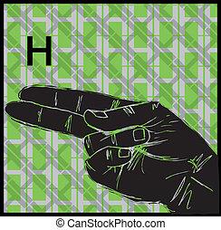 Sign Language Hand Gestures - Sketch of Sign Language Hand ...