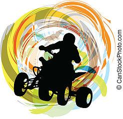 Sketch of Sportsman riding quadbike