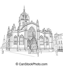 Sketch of St. Giles Cathedral