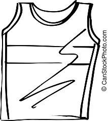 Sketch of t-shirt sleeveless vector illustration