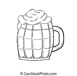 sketch of the beer