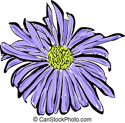 sketch of the blue flower resembl