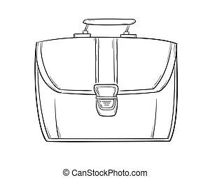 sketch of the briefcase