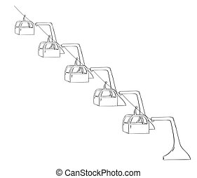 sketch of the cableway
