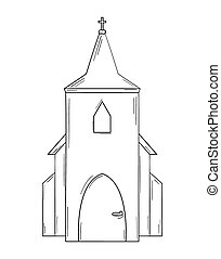 sketch of the church