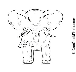 sketch of the elephant