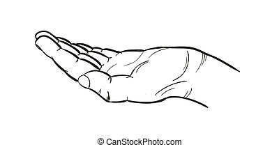 sketch of the hand
