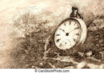 Sketch of the Relentless and Unstoppable Passage of Time