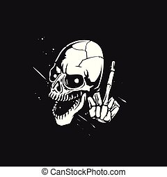 sketch of the skull vector illustration - sketch of the...