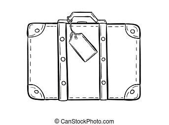 sketch of the suitcase