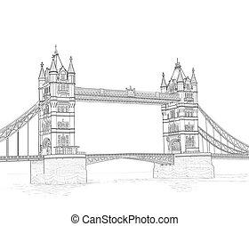 sketch of the Tower Bridge