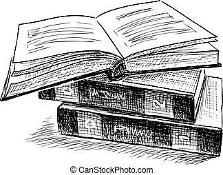 sketch of three books