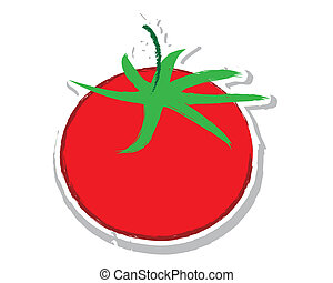 Sketch of tomato vector