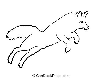 Sketch of wild fox.