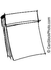 sketch paper tear-off calendar - black and white vector...