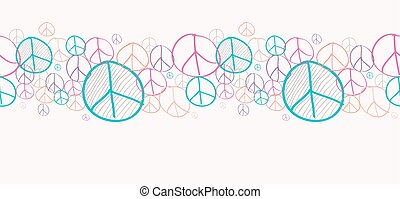 Sketch peace symbols seamless pattern background EPS10 file....