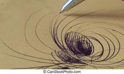 pen doodle art on paper