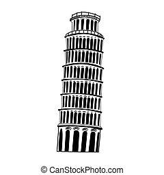 Sketch Pisa tower