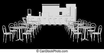 Sketch plan of restaurant