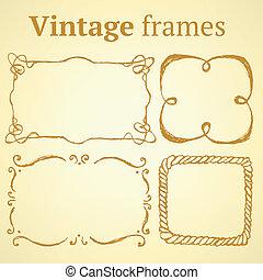 Sketch set of frames