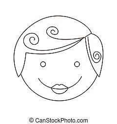 sketch silhouette cartoon man face