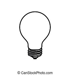 sketch silhouette image light bulb off icon