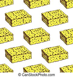 Sketch sponge in vintage style