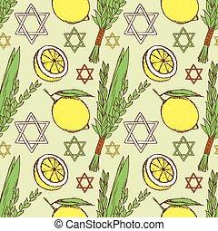 Sketch Sukkot pattern