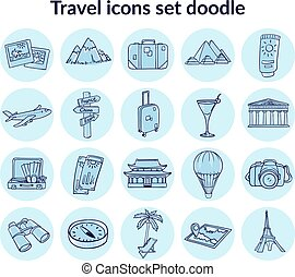 Sketch Summer Vacation Elements Set
