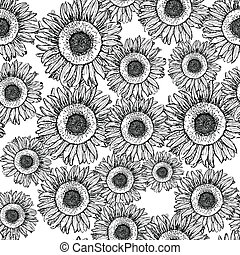 Sketch sunflower