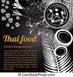 Sketch Thai Food Menu Massaman [Converted]