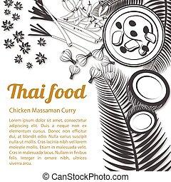 Sketch Thai Food Menu Massaman