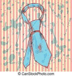 Sketch tie, vector vintage background
