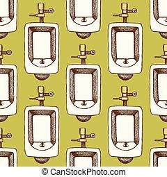 Sketch urinal in vintage style