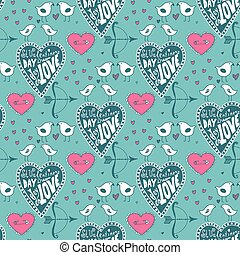 Sketch Valentine pattern
