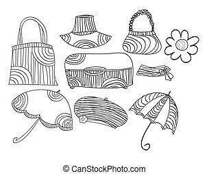 Sketch vector accessories set