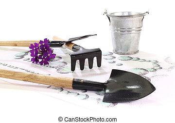 Sketch with garden tools