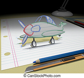 Sketch your dream (airplane)