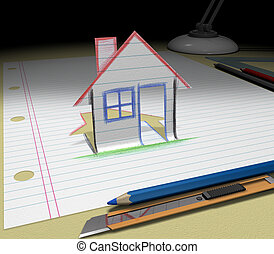 Sketch your dream (house)