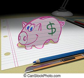 Sketch your dream (saving money)