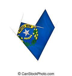 Sketched crooked heart with Nevada flag