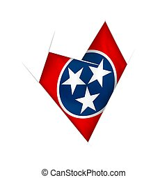 Sketched crooked heart with Tennessee flag