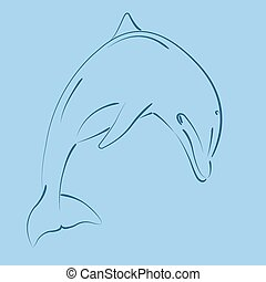 sketched, delfin, skokowy