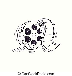 Sketched film reel desktop icon
