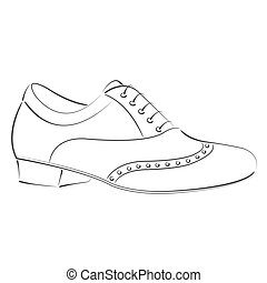 Sketched man s shoe - Elegant sketched man's shoe. Argentine...