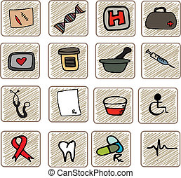 Sketched Medical Icons - A hand drawn set of medical objects...