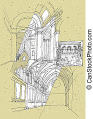 Sketching Historical Architecture in Italy: Assisi....