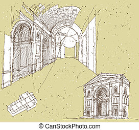 Sketching Historical Architecture in Italy: Mantua....
