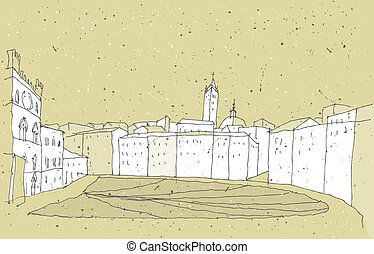 Sketching Historical Architecture in Italy: Sienna, Tuscany....